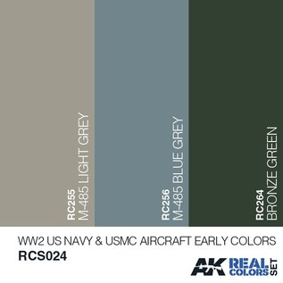 AK Interactive Real Color Set - WW2 Navy & USMC Aircraft Early Colors