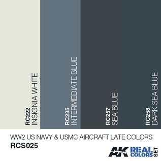 AK Interactive Real Color Set - WW2 US Navy & USMC Late Aircraft Colors