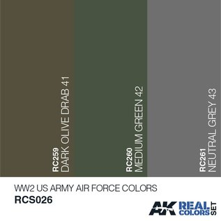 AK Interactive Real Color Set - WW2 USAAF Colors