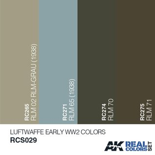 AK Interactive Real Color Set - Luftwaffe Early WW2 Colors