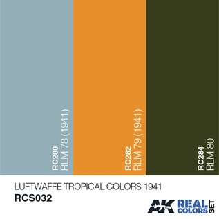 AK Interactive Real Color Set - Luftwaffe Tropical Colors 1941