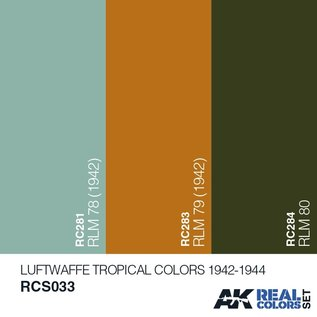 AK Interactive Real Color Set - Luftwaffe Tropical Colors 1942-1944