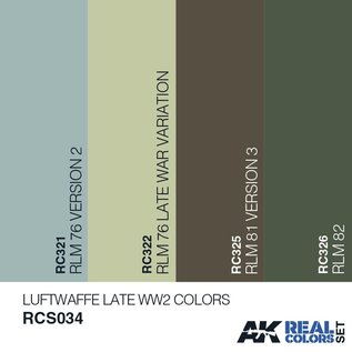 AK Interactive Real Color Set - Luftwaffe Late WW2 Colors
