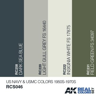AK Interactive Real Color Set - US Navy & USMC Colors 1950S-1970S
