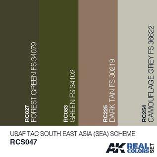 AK Interactive Real Color Set - USAF TAC South East Asia (SEA) Scheme