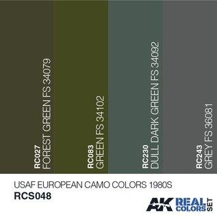AK Interactive Real Color Set - USAF European Camo Colors 1980S