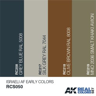 AK Interactive Real Color Set - Israeli AF Early Colors