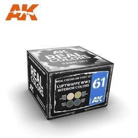 AK Interactive AK Interactive - Real Color Set - Luftwaffe WW2 Interior Colors