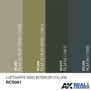 AK Interactive Real Color Set - Luftwaffe WW2 Interior Colors