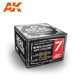 AK Interactive AK Interactive - Real Color Set - WWII Soviet AFV Colors Set