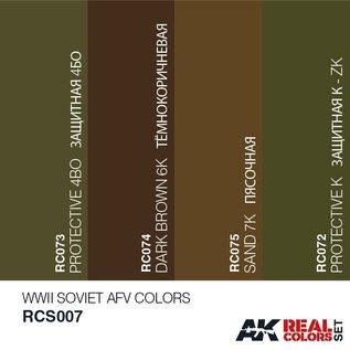 AK Interactive Real Color Set - WWII Soviet AFV Colors Set