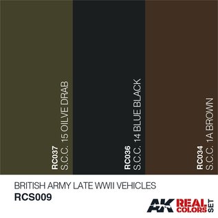 AK Interactive Real Color Set - British Army Late WWII Vehicles Set