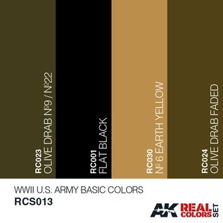 AK Interactive Real Color Set - WWII U.S. Army Basic Colors Set
