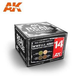 AK Interactive AK Interactive - Real Color Set - WWII U.S. Army Disruptive Camo Paints Set
