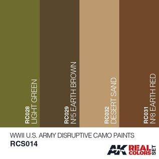 AK Interactive Real Color Set - WWII U.S. Army Disruptive Camo Paints Set