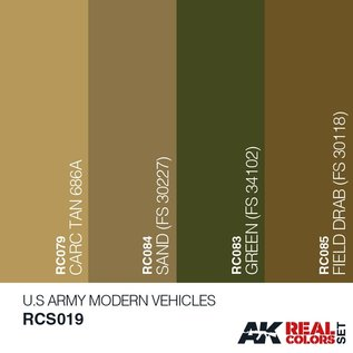 AK Interactive Real Color Set - U.S. Army Modern Vehicles Set