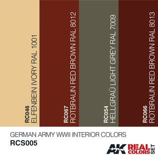 AK Interactive Real Color Set - German Army WWII Interior Colors Set