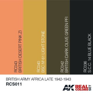 AK Interactive Real Color Set - British Army Afrika, Late 1942-1943  Set