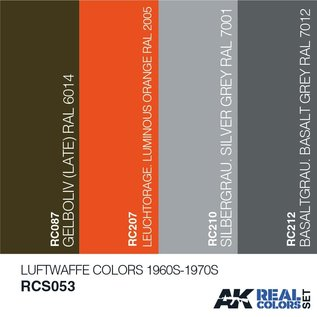 AK Interactive Real Color Set - Luftwaffe Colors 1960S-1970S