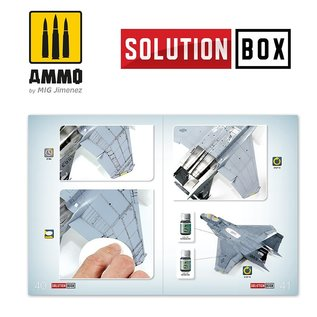 AMMO How To Paint USAF Navy Grey Fighters Solution Book (Multilingual)