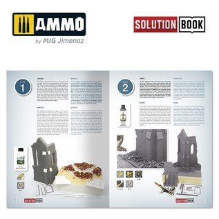 AMMO How to Paint Brick Buildings. Colors & Weathering System Solution Book (Multilingual)