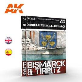 AK Interactive AK Interactive - Modelling full ahead 3 - Bismarck & Tirpitz