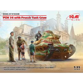 ICM ICM - FCM 36 with French Tank Crew - 1:35