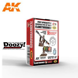 AK Interactive Doozy! - Post Apocalyptic Universal Pick-Up Truck Flamethrower - 1:24
