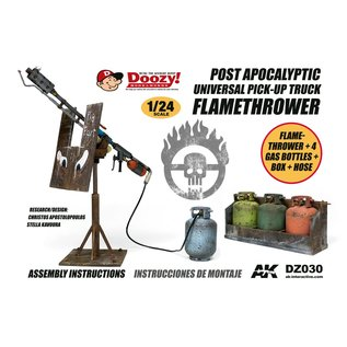 AK Interactive Post Apocalyptic Universal Pick-Up Truck Flamethrower - 1:24