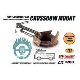 AK Interactive Doozy! - Post Apocalyptic Universal Steel Drum Hatch With Crossbow Mount - 1:24