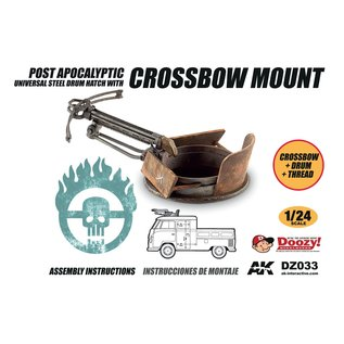 AK Interactive Post Apocalyptic Universal Steel Drum Hatch With Crossbow Mount - 1:24