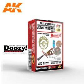 AK Interactive Doozy! - Post Apocalyptic Universal Steel Drum Hatch With Flamethrower Mount - 1:24