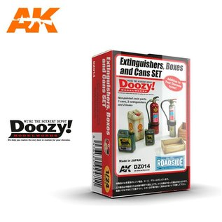 AK Interactive Extinguishers, Boxes and Cans Set - 1:24