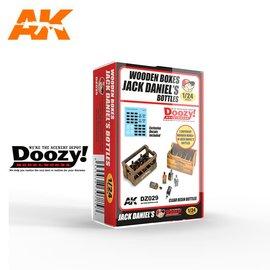 AK Interactive Doozy! - Wooden Boxes JACK DANIEL'S Bottles - 1:24
