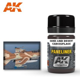 AK Interactive AK Interactive - AK2073 PANELINER FOR SAND AND DESERT CAMOUFLAGE
