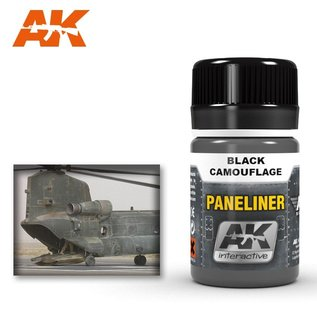 AK Interactive AK2075 PANELINER FOR BLACK CAMOUFLAGE