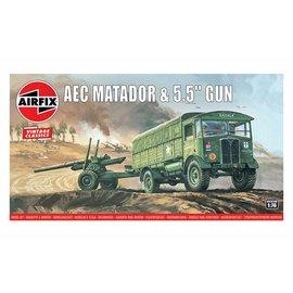 Airfix Airfix - AEC Matador & 5.5inch Gun - 1:76