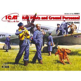 ICM ICM - RAF Pilots and Ground Personnel (1939-1945) - 1:48