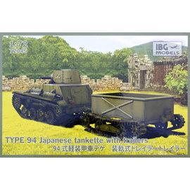 IBG Models IBG - Type 94 Japanese Tankette with trailer - 1:72