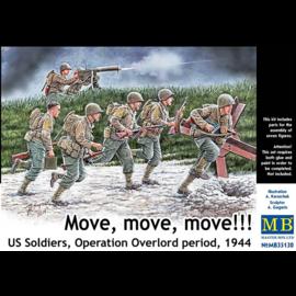 Master Box Master Box - Move, move, move!!! US Soldiers, Operation Overlord period, 1944 - 1:35