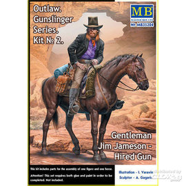 Master Box Master Box - Outlow. Gunslinger series. Kit No.2. Gentleman Jim Jameson - Hired Gun - 1:35
