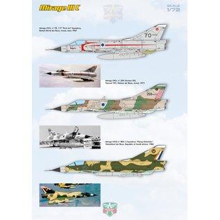 Modelsvit Dassault Mirage IIIC all-weather interceptor - 1:72