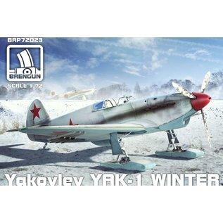 BRENGUN Yakovlev Yak-1 winter version on ski - 1:72