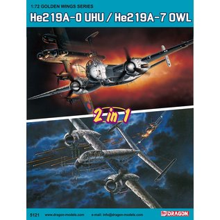 """Dragon He 219A-0 /A-7 """"Uhu"""" - 2 in 1 - 1:72"""