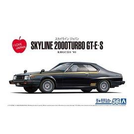 Aoshima Aoshima - Nissan Skyline HT2000 Turbo GT-E-S KHGC211 '81 - 1:24