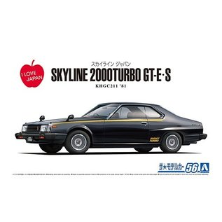 Aoshima Nissan Skyline HT2000 Turbo GT-E-S KHGC211 '81 - 1:24
