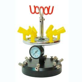 Airbrush 6-fach Druckluftverteiler mit 8-fach Halterung