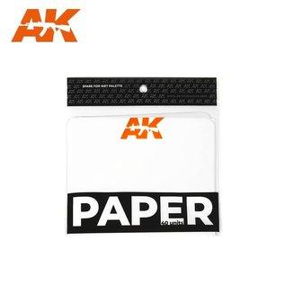 AK Interactive Ersatzpapier f. Wet Palette / Feuchthalte-Palette - 40 Stück
