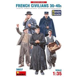 MiniArt MiniArt - French Civilians 30-40s Resin Heads - 1:35