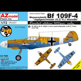 """AZ Model AZ Model - Messerschmitt Bf 109F-4 JG27 - """"Gelbe 14"""" H. J. Marseille - 1:72"""